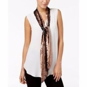INC International Concepts Sequined Skinny Scarf